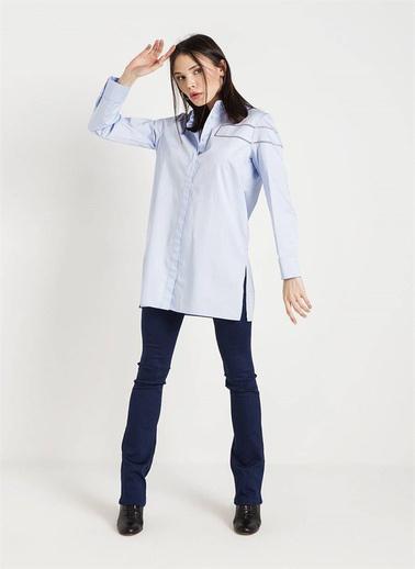 Rue Uzun Gömlek Mavi